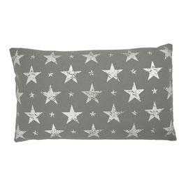 Kissen mit Füllung: grau Sterne