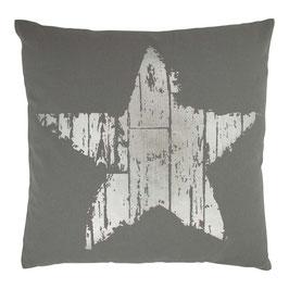 Kissen mit Füllung: grau/silber Stern