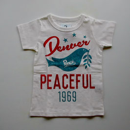 ロゴ&ハトの半袖Tシャツ/Jeans-b 2nd