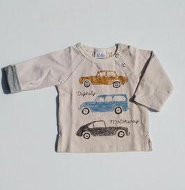 クレヨンタッチ車3台のTシャツ/B.A.