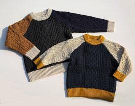 ケーブルマルチカラーセーター/O.G