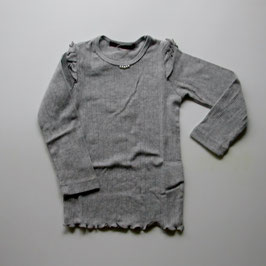 パール付き針ぬき天竺のTシャツ/Studio mini