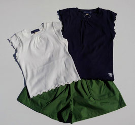細リブフレンチスリーブTシャツ/Little s.t by s.t closet