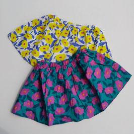 カメリア風花柄のプリントスカート/Caldia