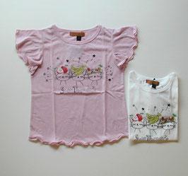 ネコさんとフルーツの半袖Tシャツ(ジュニア)