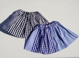 布帛プリントパッチワークのスカート(インナーパンツ付)/BLUEU AZUR