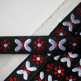 蝶とお花のチロリアンテープ