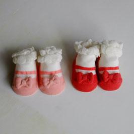 赤い靴・ピンクの靴のソックス