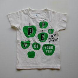 ロゴ&青りんごの半袖Tシャツ/Jeans-b 2nd