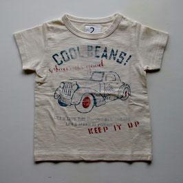ロゴ&クラシックカーの半袖Tシャツ/Jeans-b 2nd