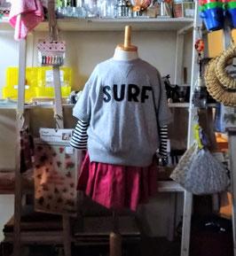 SURFアップリケのガゼット半袖Tシャツ/F.O.