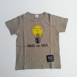 電球Inspirationロゴの半袖Tシャツ/Jeans-b