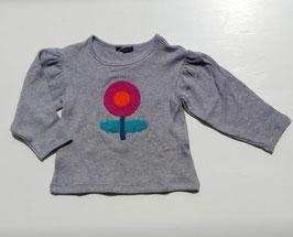 大きなお花サガラ刺繍のニットプルオーバー/Caldia