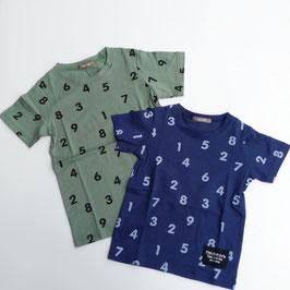 数字総柄の半袖Tシャツ/nico hrat