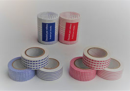 倉敷意匠のマスキングテープ/赤と青 3個セット