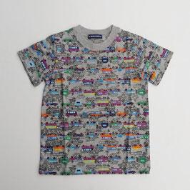 街並みと車総柄の半袖Tシャツ/L.B.
