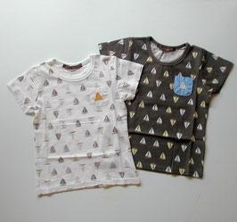 ヨット総柄の半袖Tシャツ /Studio mini