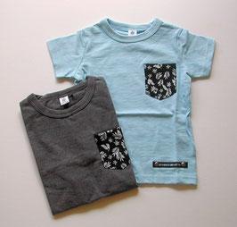 ヤシの葉ポケット半袖Tシャツ/Jeans-b