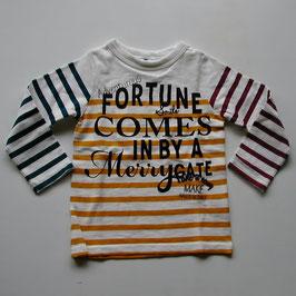 ロゴ&3色ストライプの長袖Tシャツ/Jeans-b