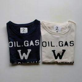 ロゴ&Wの半袖Tシャツ/Jeans-b 2nd