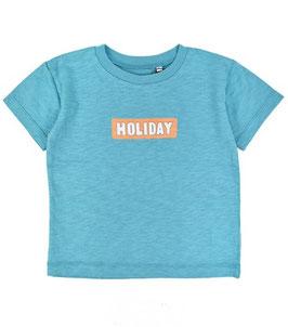HOLIDAYプリントの半袖Tシャツ/O.G