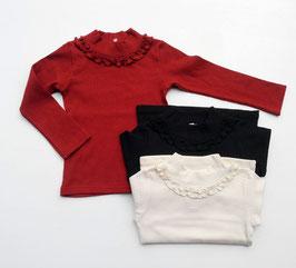シャーリングあしらいのオフタートルTシャツ/Seraph