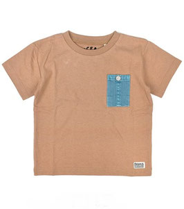 カラーポケットの半袖Tシャツ/O.G