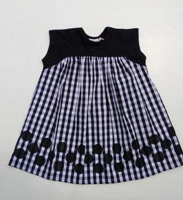 ドット&ギンガムチェック布帛使いのドッキングワンピース/BLUEU AZUR