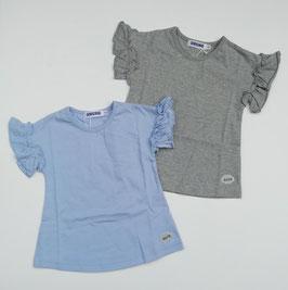 フリル袖の無地Tシャツ/sucre