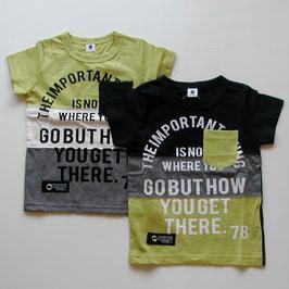 3色切り替えの半袖Tシャツ/Jeans-b