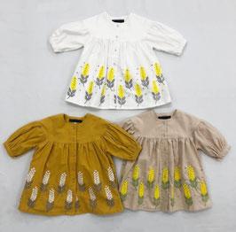 ミモザ刺繍のワンピース/Little s.t by s.t closet