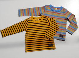 2色ボーダーの長袖Tシャツ/moujonjon