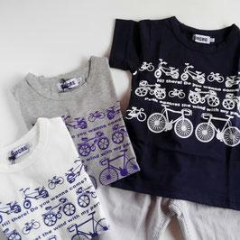 いろいろな自転車のTシャツ
