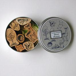 アニマルスタンプセット(丸缶)