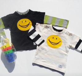 スマイルマークのTシャツ2枚セット/F.O.