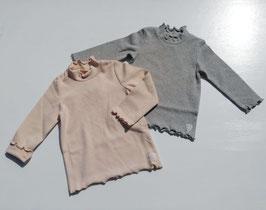 起毛フライスのハイネックTシャツ/closet