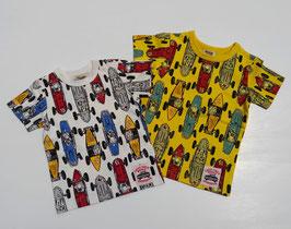 グランプリレース総柄の半袖Tシャツ/F.O.