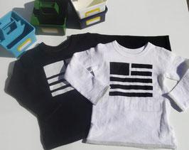 無国籍フラッグの長袖Tシャツ(リバーシブル)/F.O.