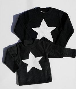 おもちニット白い星のトレーナー/F.O.