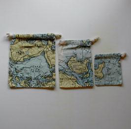 海図の巾着3点セット