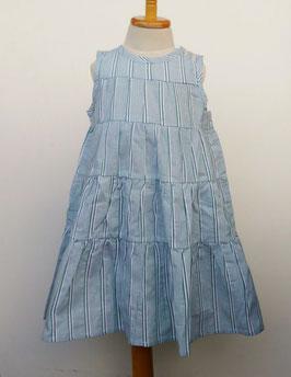 ドビー織ストライプのサマードレス(グリーン)/Little s.t by s.t closet