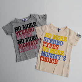 3カラーロゴの半袖Tシャツ/SUCRE-blanc