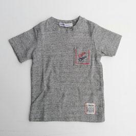 ポッケにスプーン刺繍の半袖Tシャツ/Donkey Jossy