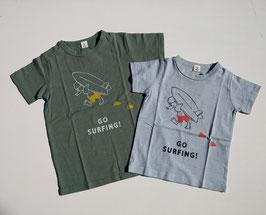 ロゴ&アヒルとサーフボードの半袖Tシャツ/2nd