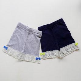 裾チュールレースの3分丈パンツ/Caldia