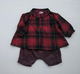 タータンチェック衿付きチュニックxブルマのセット/Stella