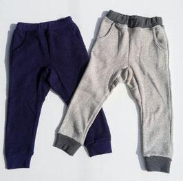 裏起毛スウェット型杢色パンツ9分丈/moujonjon