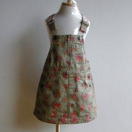 ローズ柄のジャンパースカート