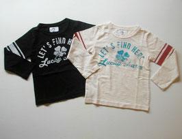 ロゴ&小さなクローバーの長袖Tシャツ/Jeans-b 2nd