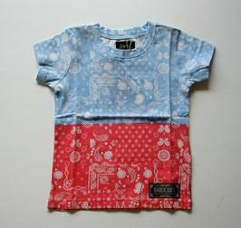 バンダナ柄バイカラーの半袖Tシャツ/Barock
